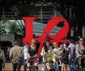 新宿LOVE オブジェ 都市伝説 写真 場所
