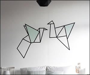 マスキングテープ 壁 デザイン